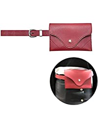 Famhome sac banane de cuir, pochette de ceinture amovible taille voyage sac  de téléphone cellulaire 046c6e0cdeb