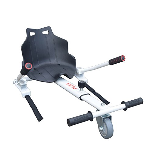 PILIKA Schwebe Kart Go-Kart-Rahmen für Self Balancing Scooter Mini-Größe Zubehörteil von Electro Scooter Ein zweirädriger Balancing Scooter in ein Hover Kart Umbauen(Weiß)