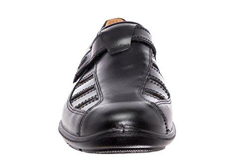 Andres Machado.305201.Chaussures en cuir Marron.Homme.Grandes Pointures 47/51 Noir