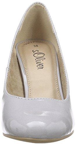 s.Oliver 22401, Chaussures à talons - Avant du pieds couvert femme Gris - Grau (GREY PATENT 215)