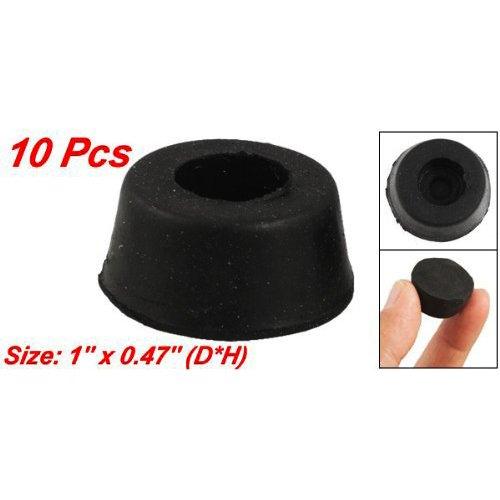 SODIAL(R) 10 Piezas de 26mm x 12mm Cubierta Protecror para Pata de Muebles, Conico Goma Negro