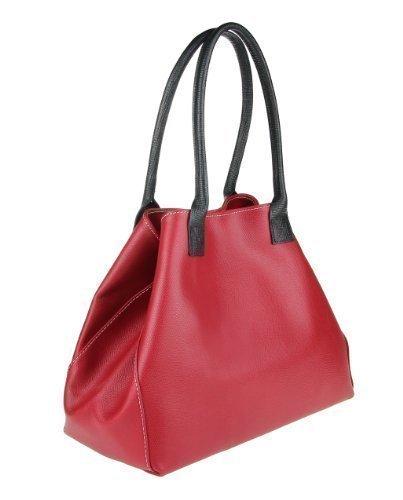 Made Italy , Sac à main pour femme 46x28x16 cm (BxHxT) Rouge - Rouge