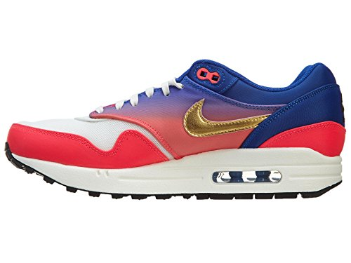 Nike - Air Max 1 Prm, Scarpe da ginnastica Donna (blau - rosa - weiß)