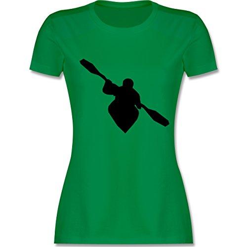 Wassersport - Kajak - tailliertes Premium T-Shirt mit Rundhalsausschnitt für Damen Grün