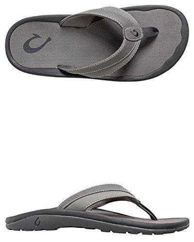 Olukai Men's Ohana Koa Sandals, Carb¨®n de le?a, 13