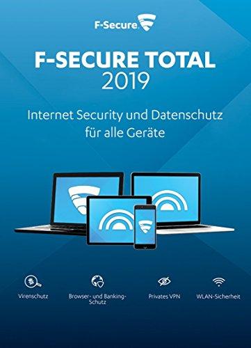 F-Secure TOTAL Security und VPN 2019 - 1 Jahr / 3 Geräte für Multi Plattform (PC, Mac, Android und iOS) [Online Code]