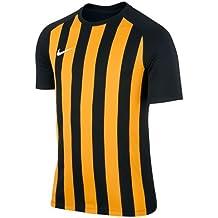 Nike Ss Yth Striped Segment Iii Jsy Camiseta de Manga Corta, Hombre, Negro (