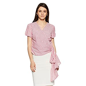 Amazon Brand – Symbol Women's Striped Regular Fit Top