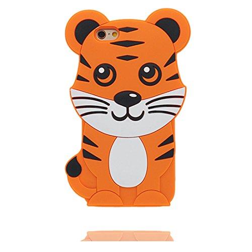 """Hülle iPhone 6s Plus Cover 3D Cartoon Bär Honey, TPU Flexible Durable Shock Dust Resistant iPhone 6 Plus Handyhülle 5.5"""", iPhone 6S Plus case 5.5"""" orange"""