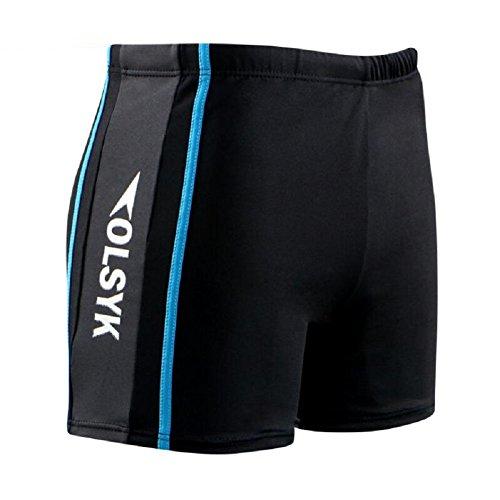 LJ&L Herren Schwimmen Hosen Shorts, Erwachsene und Jugend Schwimmbad Schwimmbad Sportbedürfnisse, weiche und komfortable atmungsaktive Stretch-Shorts Badehose D
