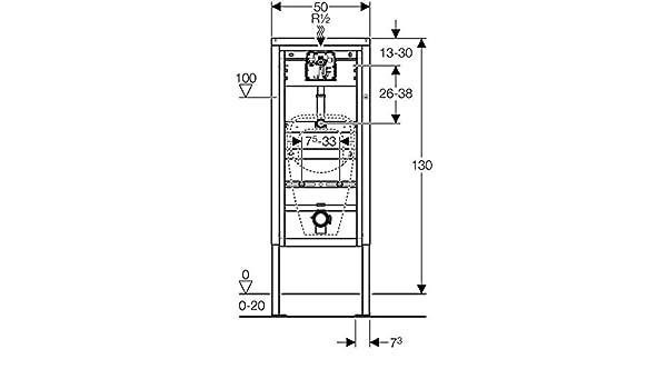Geberit Duofix Basic Urinal-Element Universal 130cm 458603005