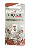 Rayovac Hearing Aid Batteries Size 312 - 10 Packs of 6 Cells