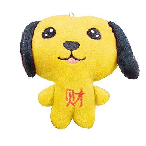 üsch Gefüllt Chinese New Year Cartoon Hund Charm Schlüsselanhänger Dekoration gelb ()
