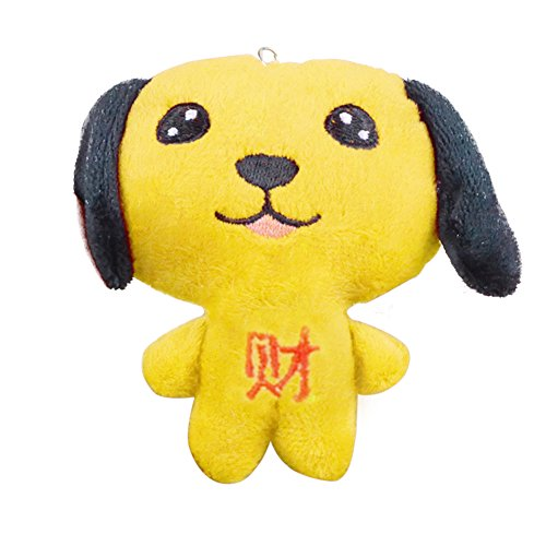 YSoutstripdu Cute Plüsch Gefüllt Chinese New Year Cartoon Hund Charm Schlüsselanhänger Dekoration gelb (Dekorationen Für Das Chinese New Year)