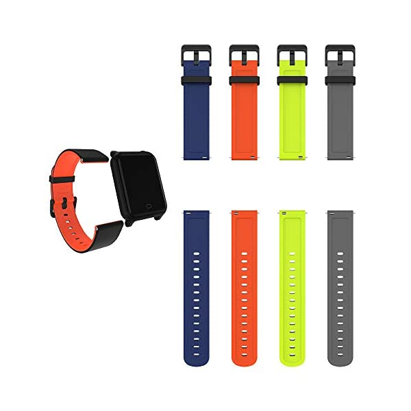 Fitpolo Bandas de reemplazo de Silicona H706 Fitness Tracker, Correa de Pulsera Activity Tracker, No Tracker (Paquete de… 6