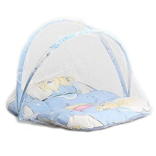 Portable Babybett Krippe Klappmoskitonetz (Farbe : Blau)