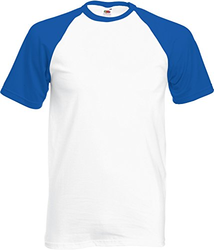 Baseball Kurzarm T-Shirt White/Royal
