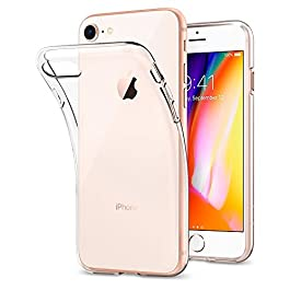 Spigen iPhone 8 Case, iPhone 7 Case [Liquid Crystal] iPhone 7/8 Clear Case Cover with Slim Protection and Premium Clarity for iPhone 7 / iPhone 8 – Crystal Clear