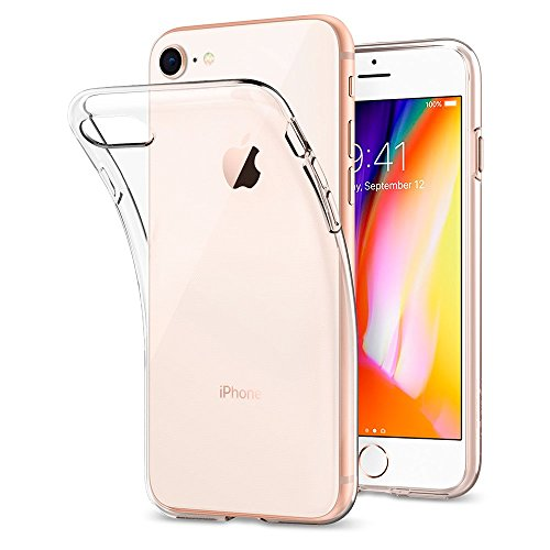 Coque iPhone 7, Coque iPhone 8, Spigen [Liquid Crystal] Ultra Mince Premium TPU Silicone [Crystal Clear] Premium transparent /...