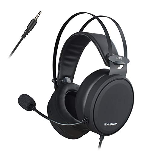 Nubwo Casque PS4, N7 Xbox One Casque Gaming Stéréo Filaire PC avec Micro à Réduction du Bruit, Casque Over-Ear pour PC, Mac, Playstation 4, Xbox One, Android et iPhone-Noir