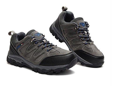 Z&HX sportsScarpe da arrampicata scarpe da passeggio antisdrucciolevoli in vita solida scarpe da passeggio impermeabili scarpe sportive Grey