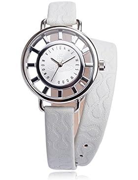 Vivienne Westwood-VV055SLWH Damen-Armbanduhr Lolla Quarz analog Leder Weiß