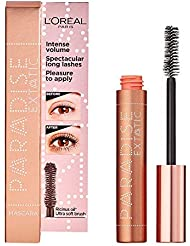 L'Oréal Paris Paradise, Intense Volume, Castor Oil-Enriched, Eyelash Lengthening Mascara. Flake Free Formula. Soft Mascara Brush Included