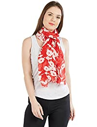 Red Floral Harnesh floral reverse print Colour Red Size 70x180 cms