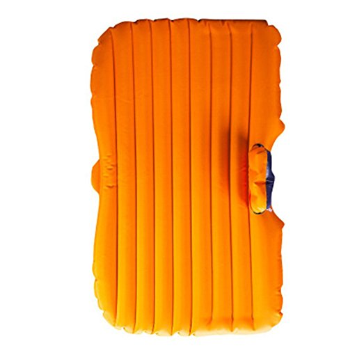 Price comparison product image DMGF Inflatable Car Mattress Camping Air Bed Universal SUV Back Seat Extended Air Cushion Portable Travel Air Mat Outdoor Seeping Air Pad With Air Pump 2 Air Pillows, Orange