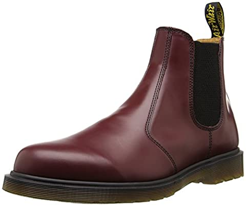 Dr. Martens 2976, Bottes Chelsea mixte adulte, Rouge (Cherry Red Smooth), 44 EU