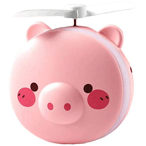 ZHONGYANLI small Fan Pig Beauty Portable Led Mirror Pocket Fan USB Charging Mini Handheld Fan with Mirror Led Light Portable Small Fan - 20w Single Light Mini