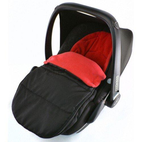 Preisvergleich Produktbild Autositz Fußsack/COSY TOES kompatibel mit Britax Baby Safe Plus New Born Autositz Fire Rot