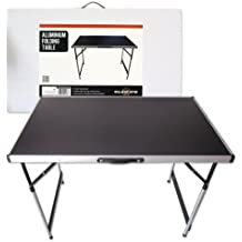 Mesa plegable de aluminio Milestone Camping - Negra