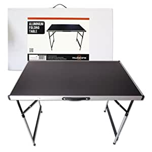 table pliante en aluminium milestone camping noire sports et loisirs. Black Bedroom Furniture Sets. Home Design Ideas