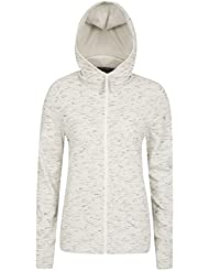 Mountain Warehouse IsoCool Dynamic rouche Womens Hoodie – Full Zip, Antibacterial, Lightweight, Breathable, Flat seams, Anti Chafing - Ideal For Everyday Winter Use