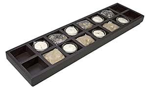 Zen plateau décoratif en bois pour bougies chauffe-plat rectangulaire