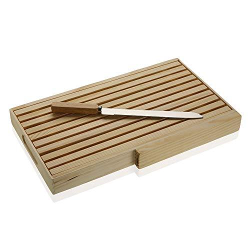 Versa 19910144 Tabla De Cortar de Cocina Bambú, Madera, 4 x 24 x 40 cm