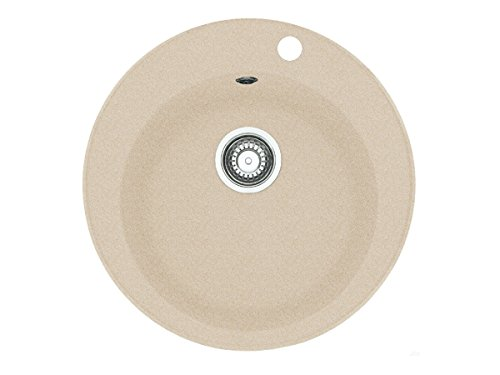 Franke Pamira ROG 610-41 Beige Granit-Spüle runde Küchenspüle Spülbecken Auflage