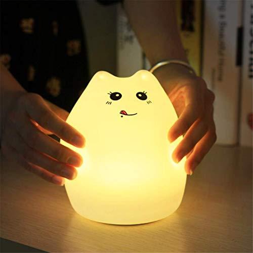 Nachttischlampe Nachttisch Schreibtischlampe Nachttischlampe Bunte Wassertropfen Silikon Tier Niedlich Kreativ Seltsam Patted Akku Tischlampe Nacht Farbdekompression für Schlafzimmer, Wohnzimmer, Kin
