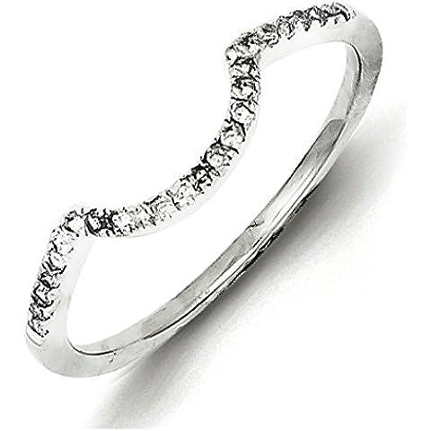 Sterling Argento Rodio Placcato Diamante Wrap Anello–Anello Serie Opzioni Dimensioni: L a P