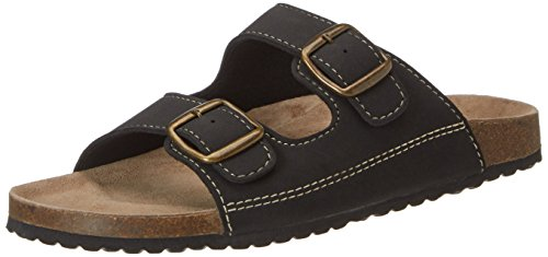 Softwaves 174 001, Mules Homme Schwarz (Black/Bronze)