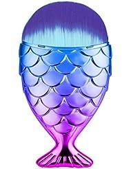 ESAILQ Fisch-Skala Make-up Pinsel Fischschwanz Puder Blush Make-up Kosmetik Pinsel Werkzeug