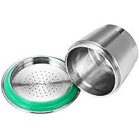 OurLeeme Metal del Acero Inoxidable Reutilizable Cápsula Copa Recargable para la Máquina de café Nespresso