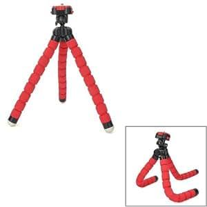 Rig Stabilisateur - Support Trépied Souple éponge plastique forme de poulpe pour Caméra Vidéo Canon,Nikon,Sony,etc. - Rouge