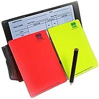 HUYUHAN Juego de cartas de repuesto para árbitro de fútbol, color rojo y amarillo, B