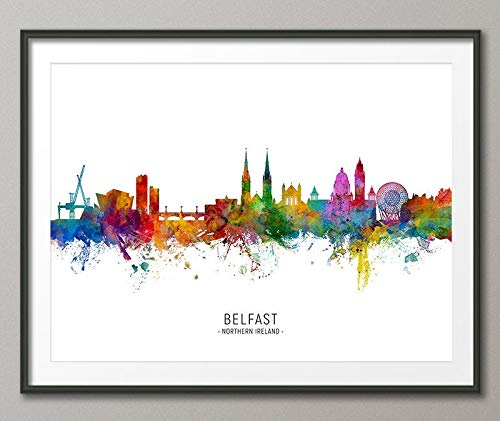 Erti567an Belfast Skyline Northern Ireland Cityscape for sale  Delivered anywhere in UK