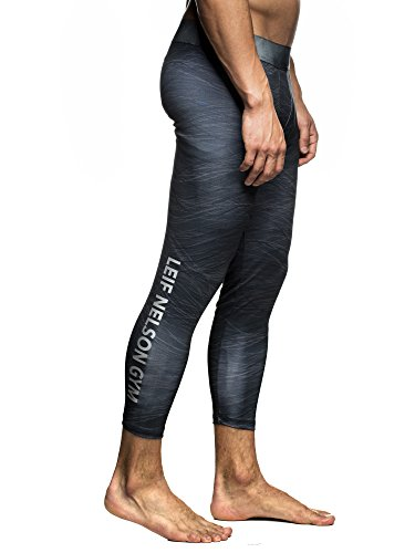 LEIF NELSON - Pantalon - Homme noir/gris