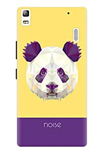 Noise Crystal Panda-Yellow Printed Cover for Lenovo K3 Note