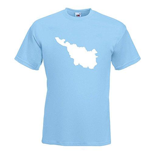 KIWISTAR - Bremen Deutschland Silhouette T-Shirt in 15 verschiedenen Farben - Herren Funshirt bedruckt Design Sprüche Spruch Motive Oberteil Baumwolle Print Größe S M L XL XXL Himmelblau