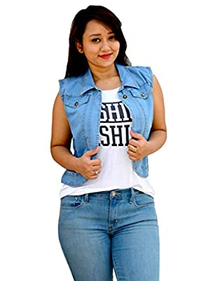 Aarti Collections Classic Light blue Women's Denim Jacket
